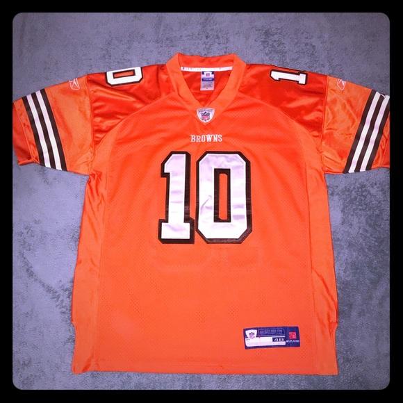 sale retailer 50b02 582ff Reebok NFL Cleveland Browns Brady Quinn Jersey